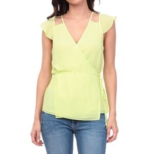 TIE SIDE CUT OUT BLOUSE [TB109366]